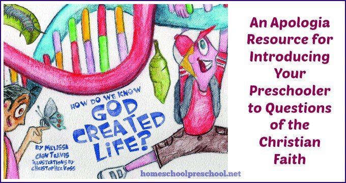 How Do We Know God Created Life?: An Apologia Resource for Introducing Your Preschooler to Questions of the Christian Faith www.homeschoolpreschool.net Wonderful resource for help in answering questions about the Christian faith!