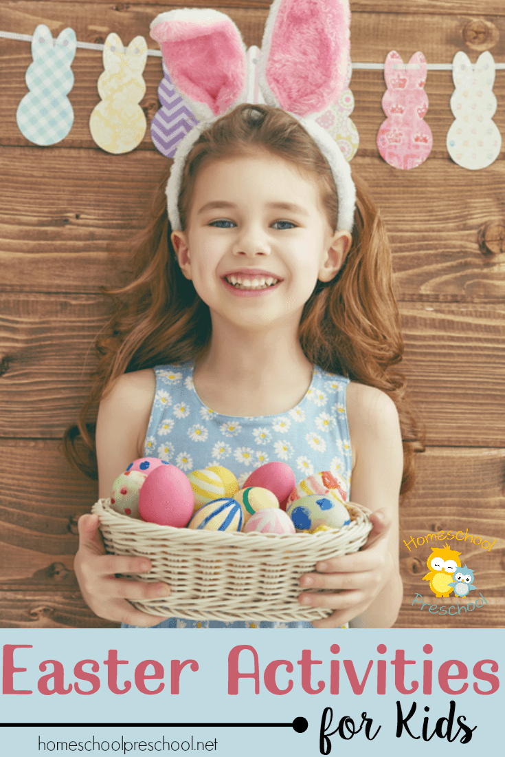 I hope that your family will enjoy these Easter activities together as you learn more about spring, Jesus, and the real meaning of Easter!   homeschoolpreschool.net