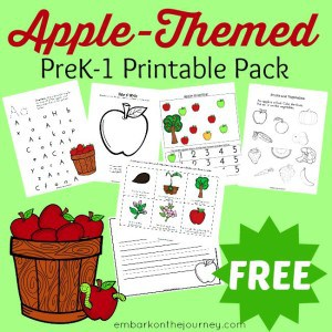 FREE Apple-Themed Printable for PreK-1