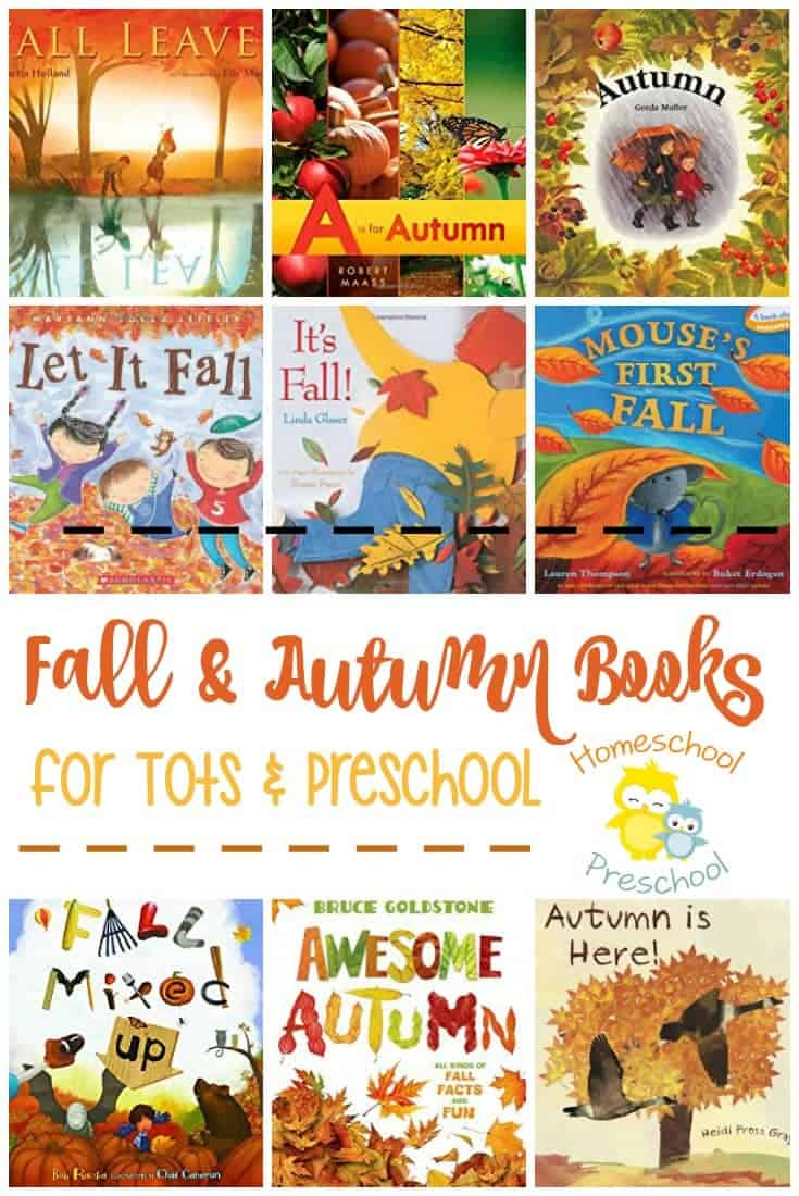 Snuggle up with your little ones and usher in fall with this fantastic autumn book list for preschool. | homeschoolpreschool.net