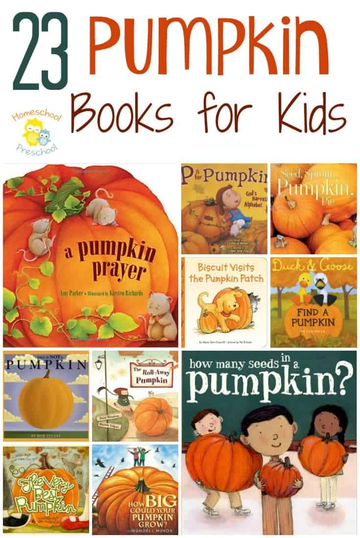 I know not everyone celebrates Halloween. So, here is a fun list of pumpkin books that are not Halloween related. These books are perfect for your preschoolers, and they'll lead to some great autumn conversations. | homeschoolpreschool.net