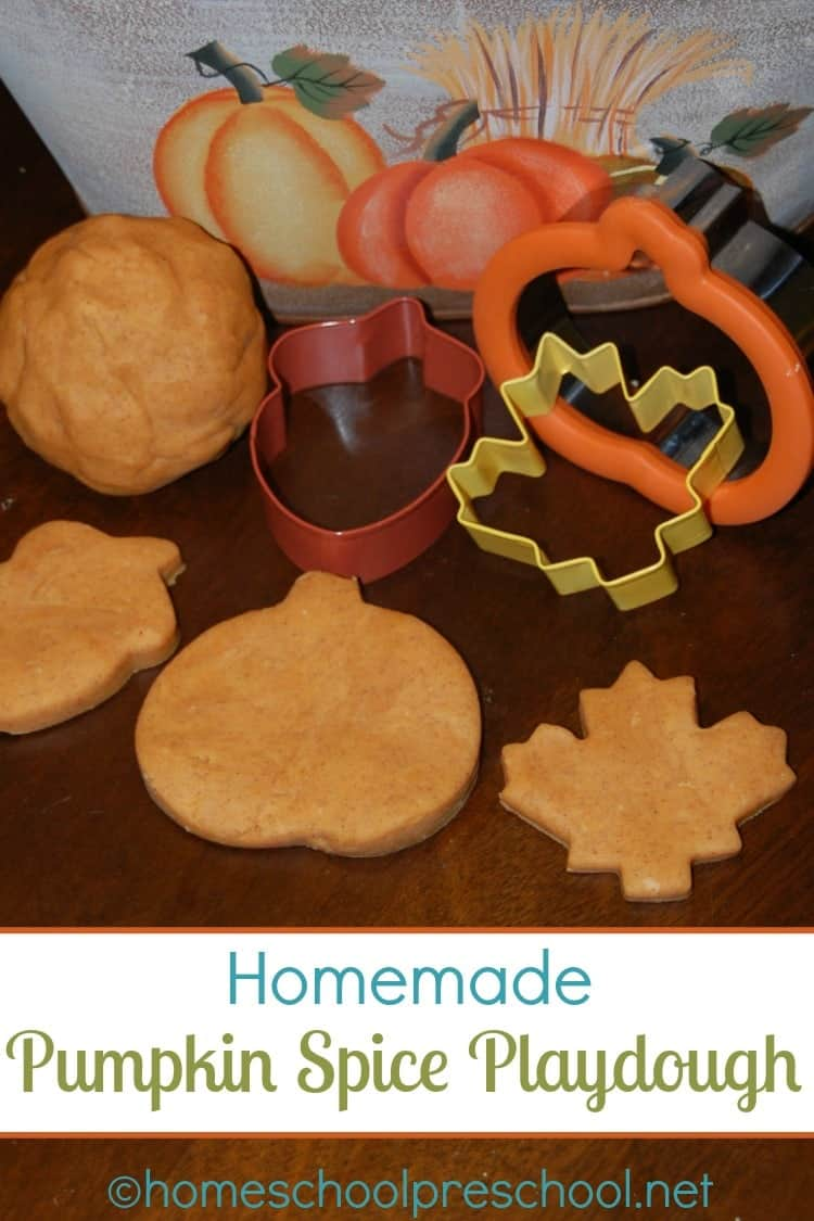 Homemade Pumpkin Spice Playdough
