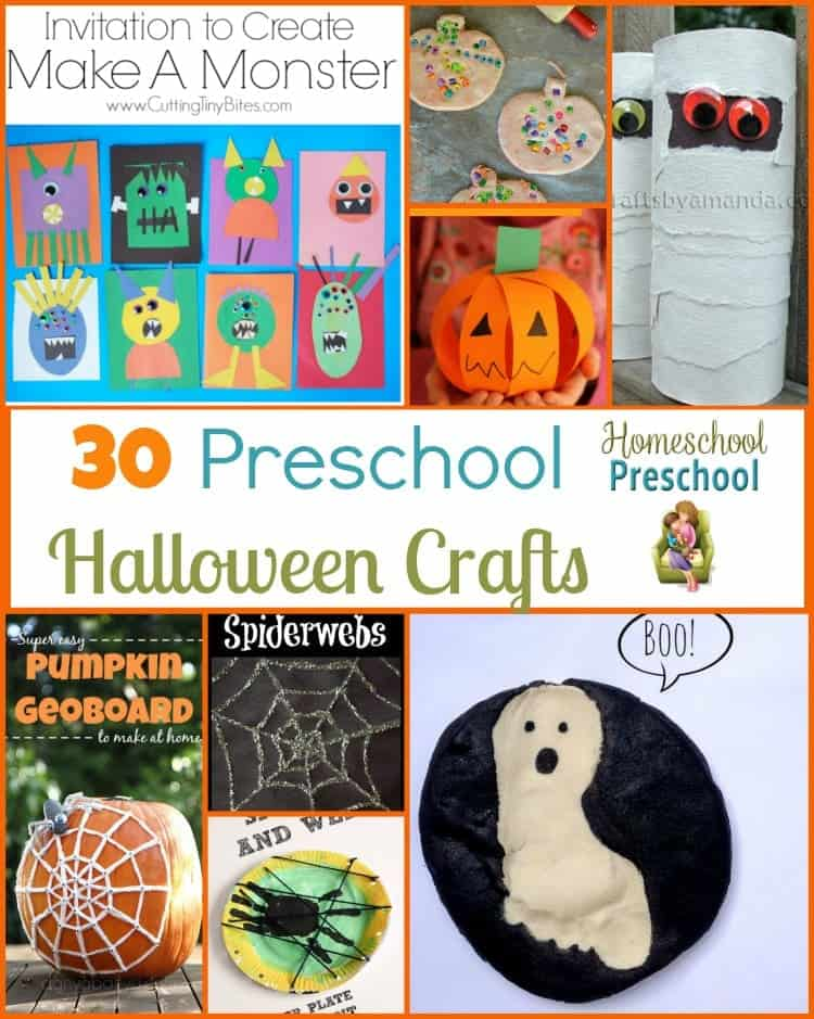 Keep your little ones busy this month with one or more of these fun Halloween crafts for preschoolers! | homeschoolpreschool.net