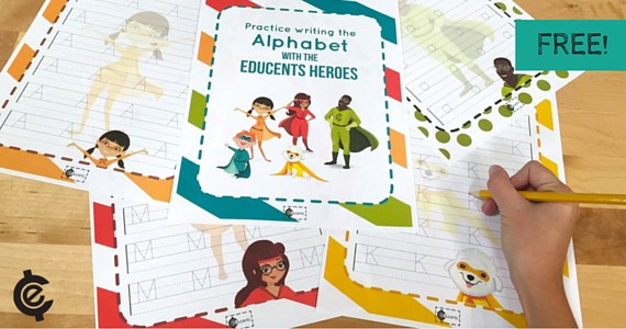 FREE Hero-Themed Alphabet Handwriting Pages
