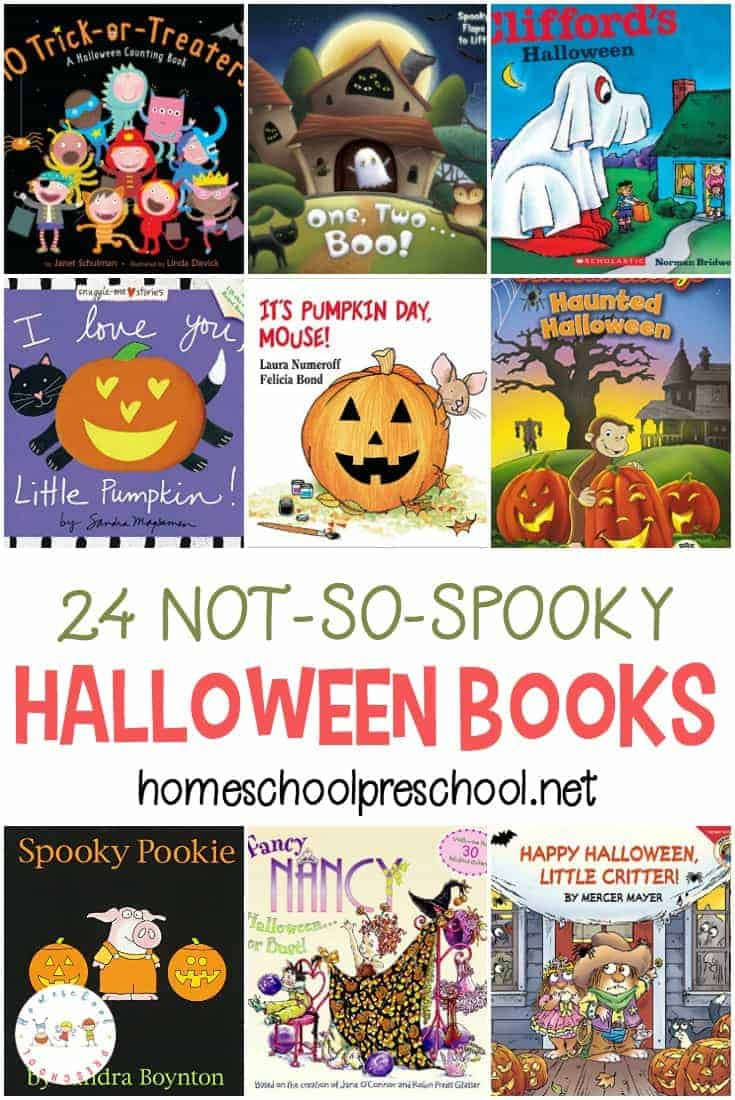 Many preschoolers are sensitive to scary things. If you have a sensitive child, come explore this list of not-so-scary Halloween picture books for preschoolers!