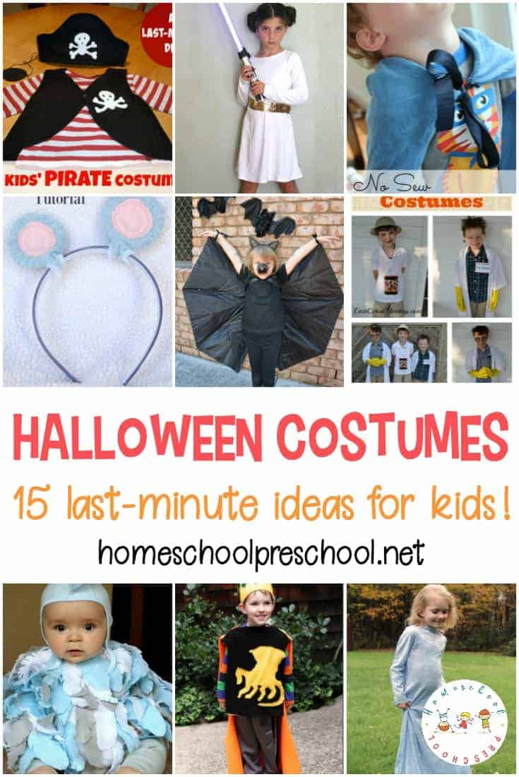 Check out these last-minute Halloween costume ideas that your preschoolers (and your pocketbook) are sure to enjoy!