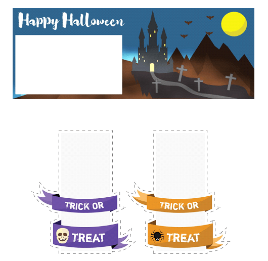 These colorful free printables will surely help you turn your house into a Halloween playground. You can use them to prepare treats labeled with some scary notes for the kids, decorate your home and throw a fun and spooky party. | homeschoolpreschool.net