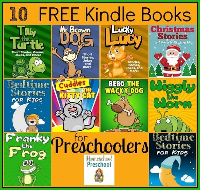 10 FREE Kindle Books for Preschoolers | homeschoolpreschool.net