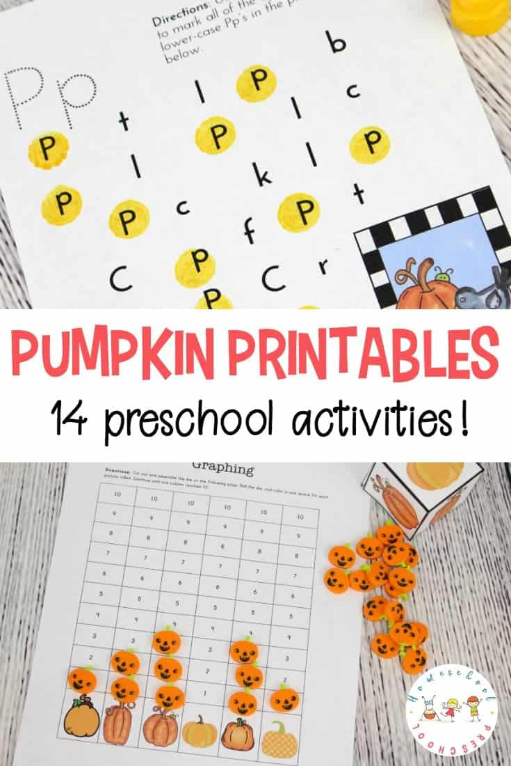 Fall is just around the corner. With it comes all things pumpkin! Don't leave your preschoolers out of the pumpkin fun. Share this pumpkin printable with them!