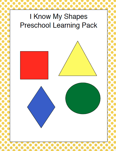 graphic relating to Printable Shapes for Preschoolers known as Free of charge I Notice My Designs Printable for Preschoolers