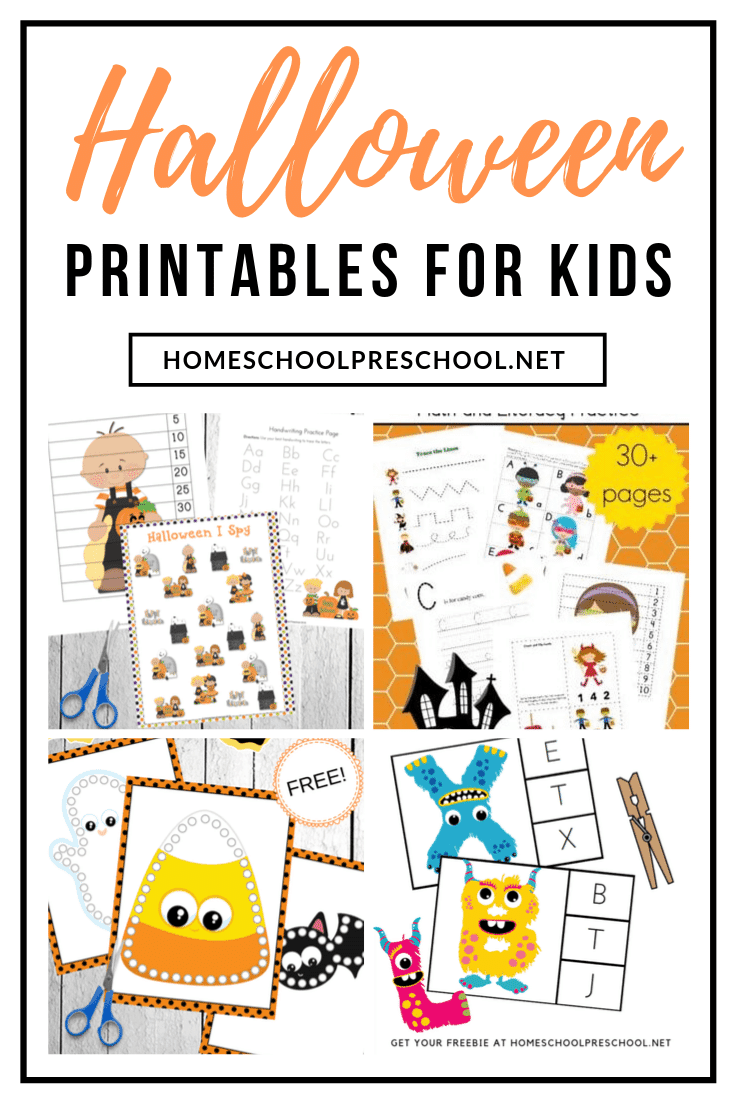 Your little ones will love this awesome collection of free Halloween printables for kids. Find crafts, learning activities, and more!