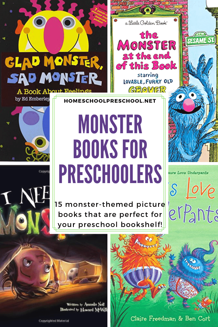 This Halloween, fill your book basket with this marvelous collection of monster books for preschoolers! Your kids will want to read them all month long.