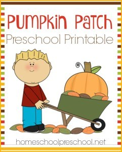 Pumpkin Printable for Preschoolers