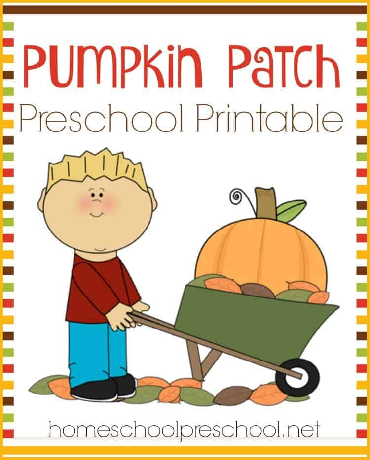 Happy Fall Y'all! Your preschoolers will love this FREE Pumpkin Patch printable learning pack! | homeschoolpreschool.net