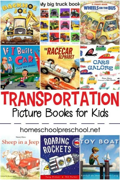 If your little ones are obsessed with planes, trains, and other automobiles, you don't want to miss this collection of our favorite transportation books for preschoolers!
