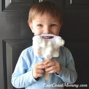 Santa Beard Craft with Free Template