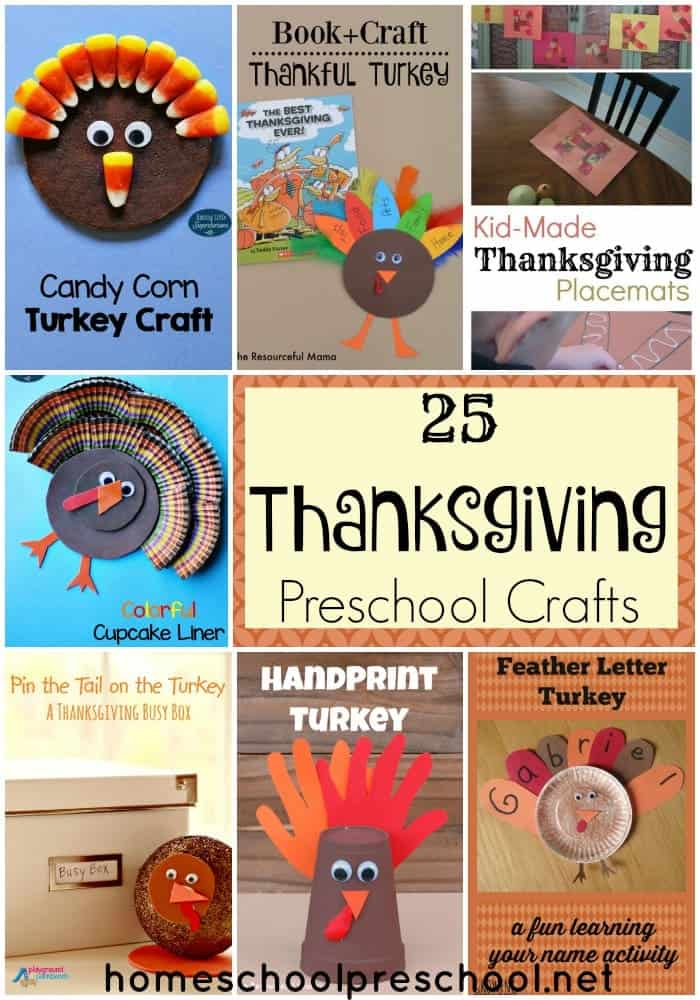 Make some memories with your little turkeys with these Thanksgiving preschool crafts! | homeschoolpreschool.net