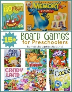 Family Game Night Preschool Gift Guide