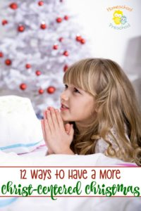 Whether Santa is a part of your holiday plans, it's important to help our little ones learn the true meaning of Christmas. Try one of these four ideas for having a Christ-centered Christmas. | homeschoolpreschool.net