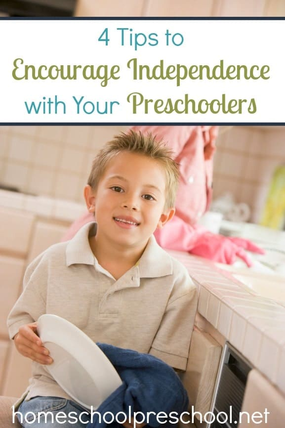 4 Tips to Encourage Independence with Your Preschoolers