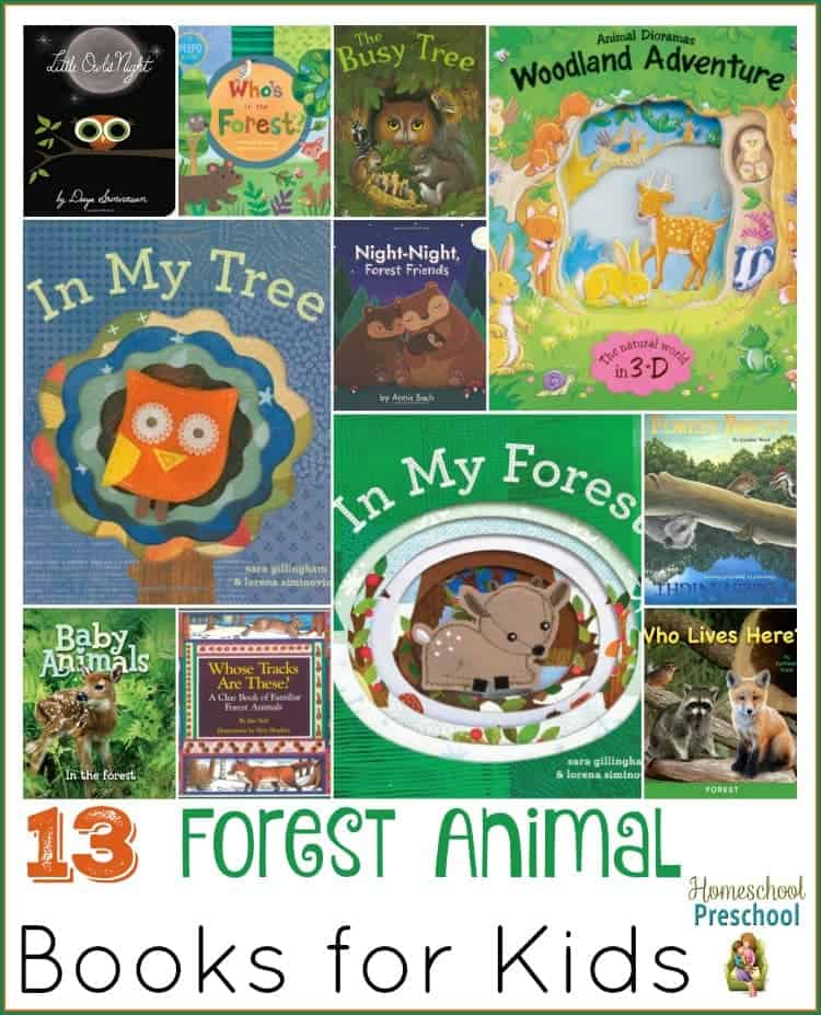 Snuggle up with your little critters and read about animals that live in the forest! | homeschoolpreschool.net
