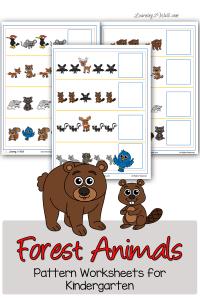 Forest-Animals-Pattern-Worksheets-for-Kindergarten-pin