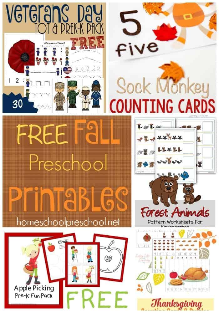 Your little ones will love these free fall preschool printables! | homeschoolpreschool.net