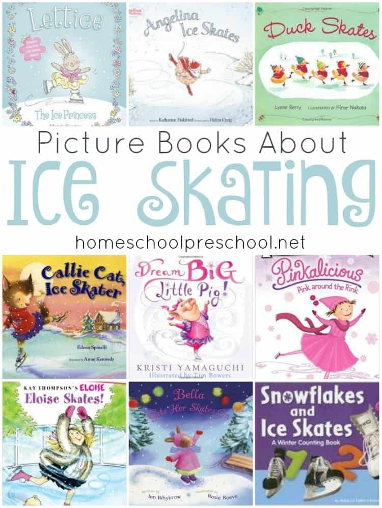 Winter is here! It's the perfect time to snuggle up and read some great picture books with your little ones. How about reading to them about ice skating? Here's a fun list! | homeschoolpreschool.net