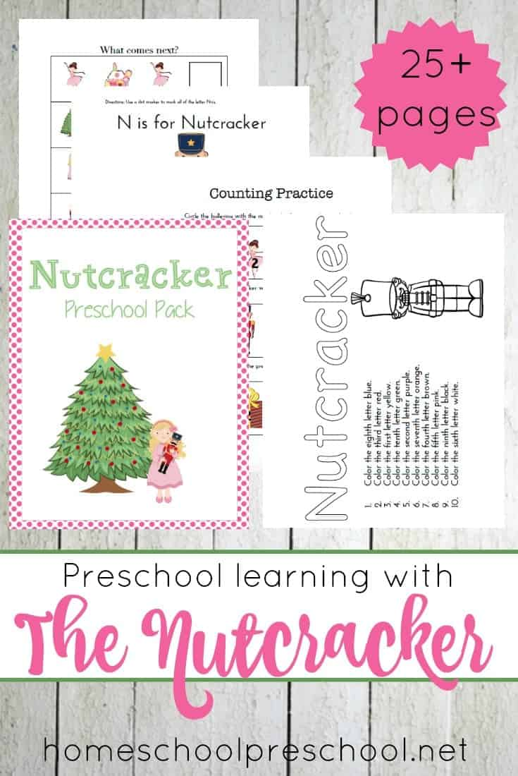 Kick off your holiday season with this free Nutcracker preschool printable! | homeschoolpreschool.net