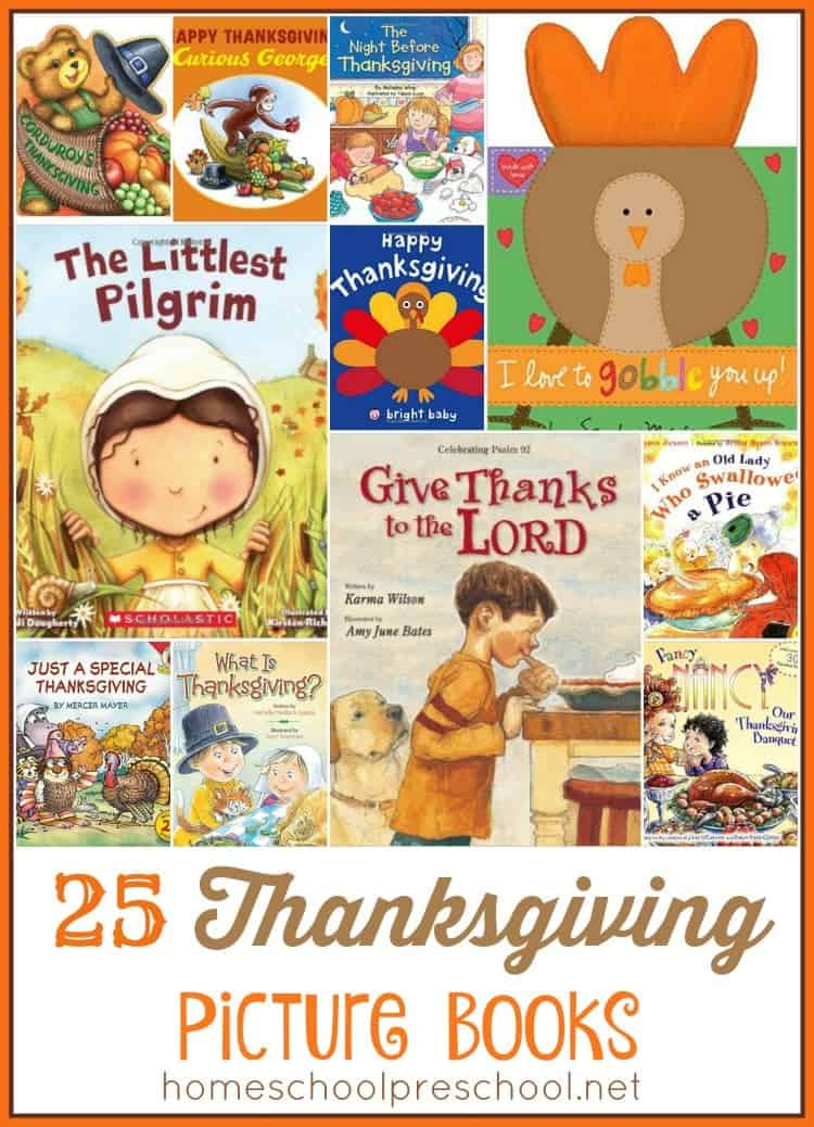 Grab one of these fun Thanksgiving books to read to your little turkey! | homeschoolpreschool.net