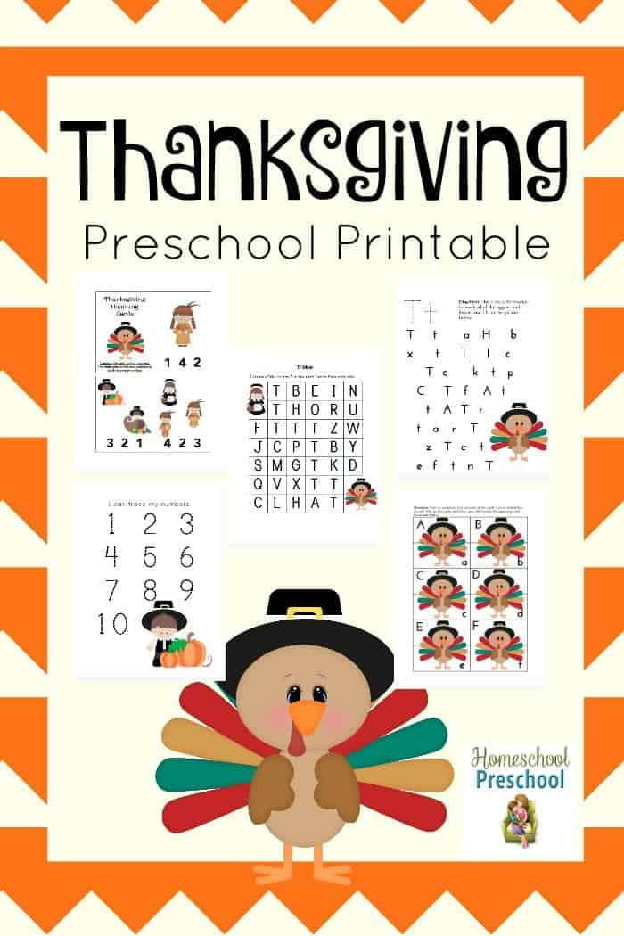 Here's a free Thanksgiving preschool pack that your little turkey is sure to enjoy! | homeschoolpreschool.net