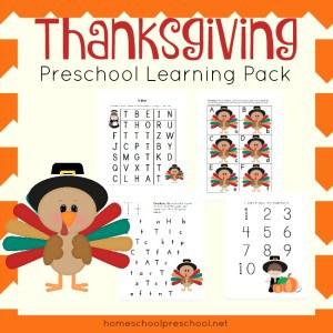 Free Thanksgiving Preschool Printable