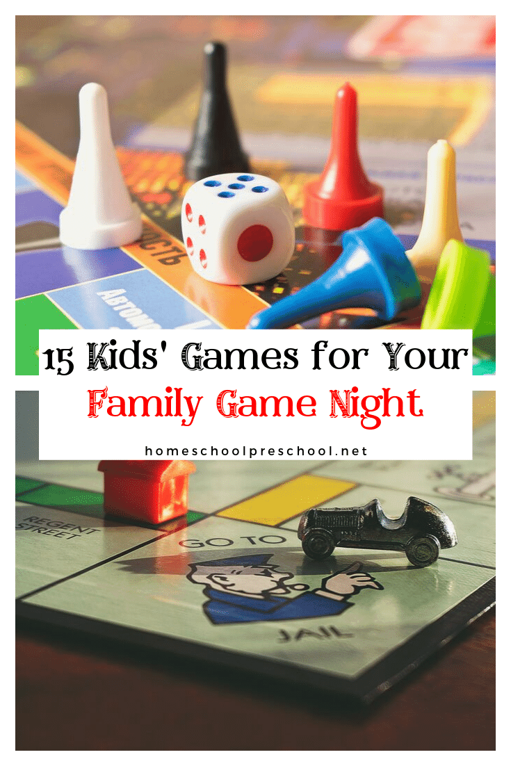 Kids will practice their colors, ABC's, numbers, counting, and visual discrimination skills. This is a great way to sneak some learning during family game night!