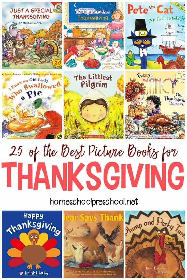 It's the perfect time to stock your little turkey's book basket with Thanksgiving books for kids. Here's a list of more than 20 that you can choose from.
