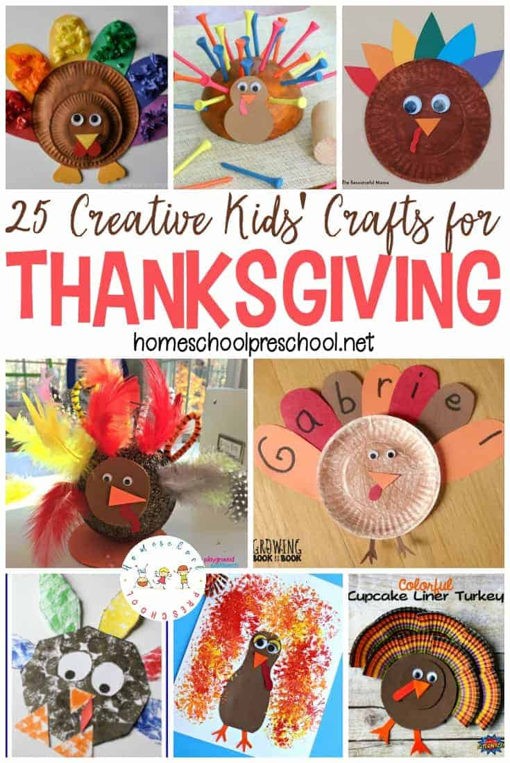 The best Thanksgiving Crafts for Preschoolers! We've found some great activities that your preschooler can do to get into the Thanksgiving mood!