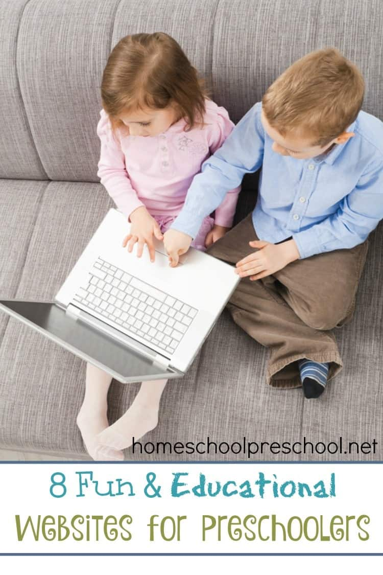 Here's a list of fun and educational websites that your preschoolers will love! | homeschoolpreschool.net