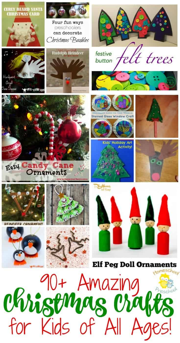95 of the best christmas crafts for kids for Christmas crafts for little ones