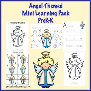 Free Angel-Themed Learning Pack for the Holidays