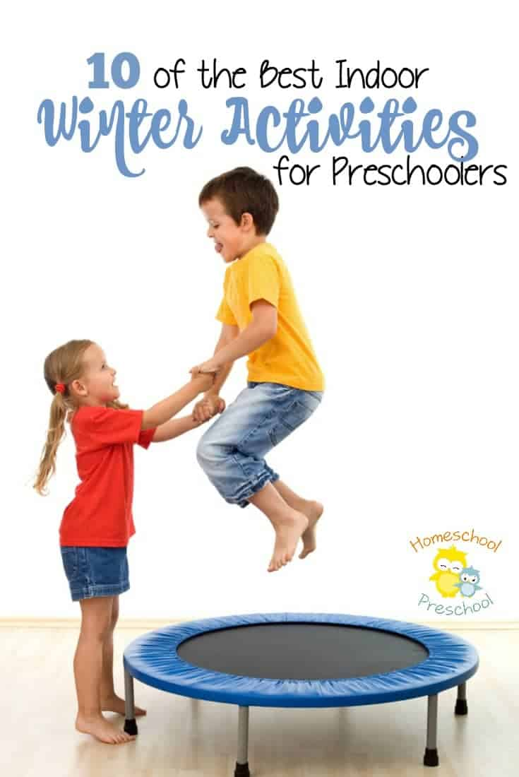 If you're looking for some indoor winter activities for preschoolers, you have to check out this awesome list of ideas! | homeschoolpreschool.net
