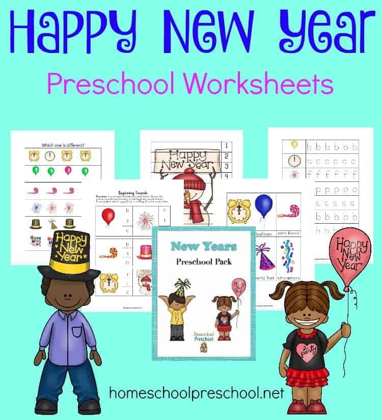 Free New Year Preschool Printable