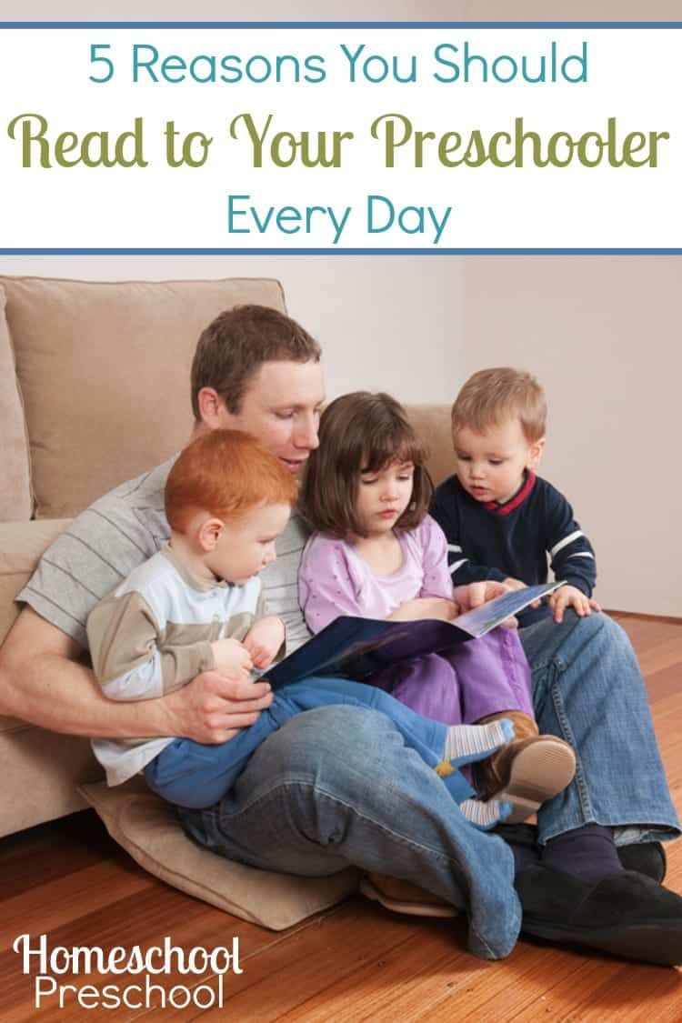 It's important to read aloud to your preschoolers daily. Inspire their imaginations, encourage their passions, and more. | homeschoolpreschool.net