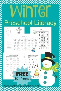 FREE Printable Winter Preschool Literacy Pack
