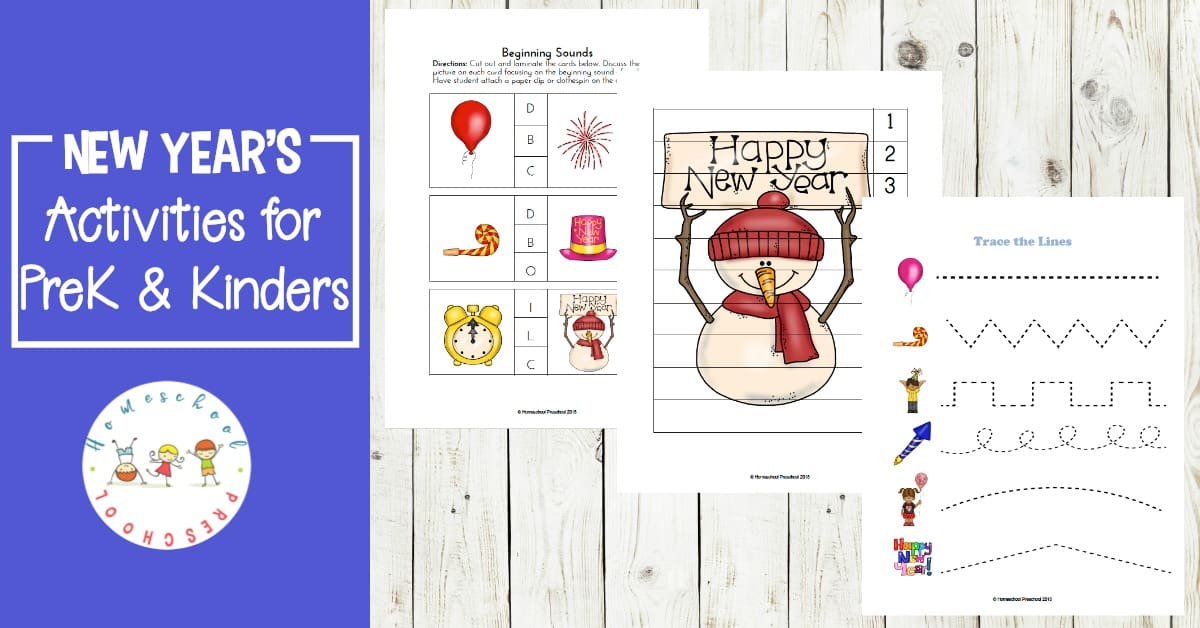 FREE Printable Pack Of Preschool New Years Activities