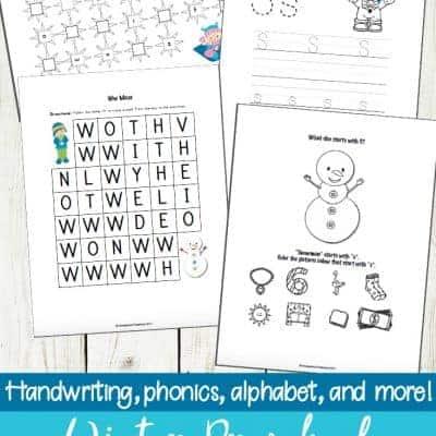 Winter Preschool Literacy Activities