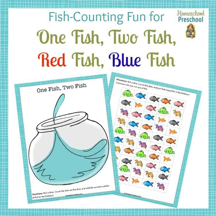 15 hands on one fish two fish activities for preschoolers for One fish two fish printable