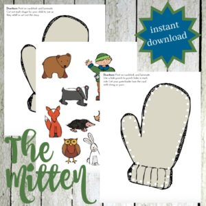 Jan Brett's The Mitten Printable and Hands-On Fun