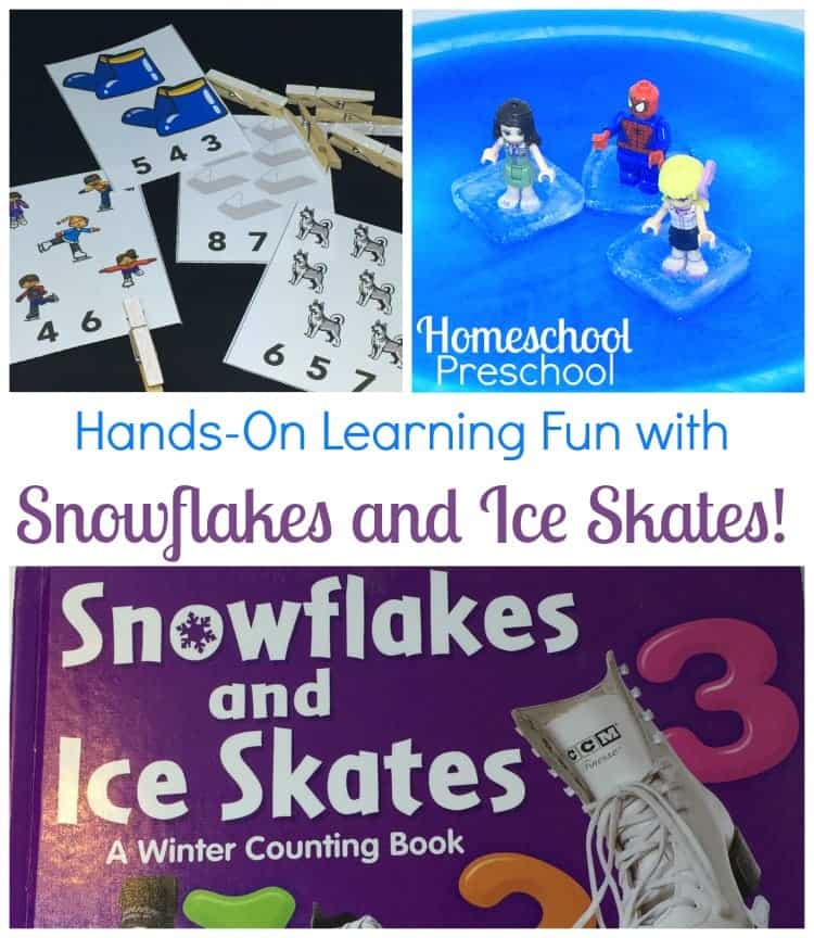 This winter, have some hands-on learning fun with your preschoolers and the book Snowflakes and Ice Skates! | homeschoolpreschool.net