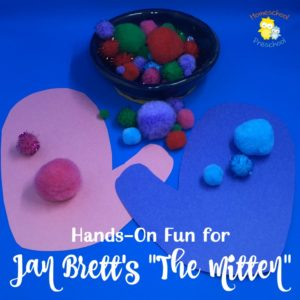 Free hands-on fun for your preschoolers to use with Jan Brett's The Mitten! Instant download. No sign up required. | homeschoolpreschool.net