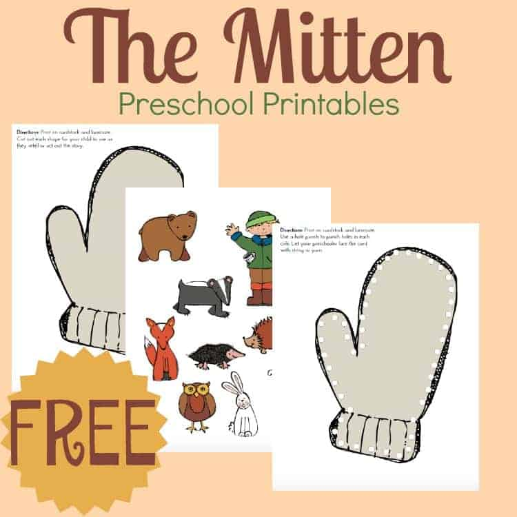 "Use these free printables when you read Jan Brett's ""The Mitten"" with ..."