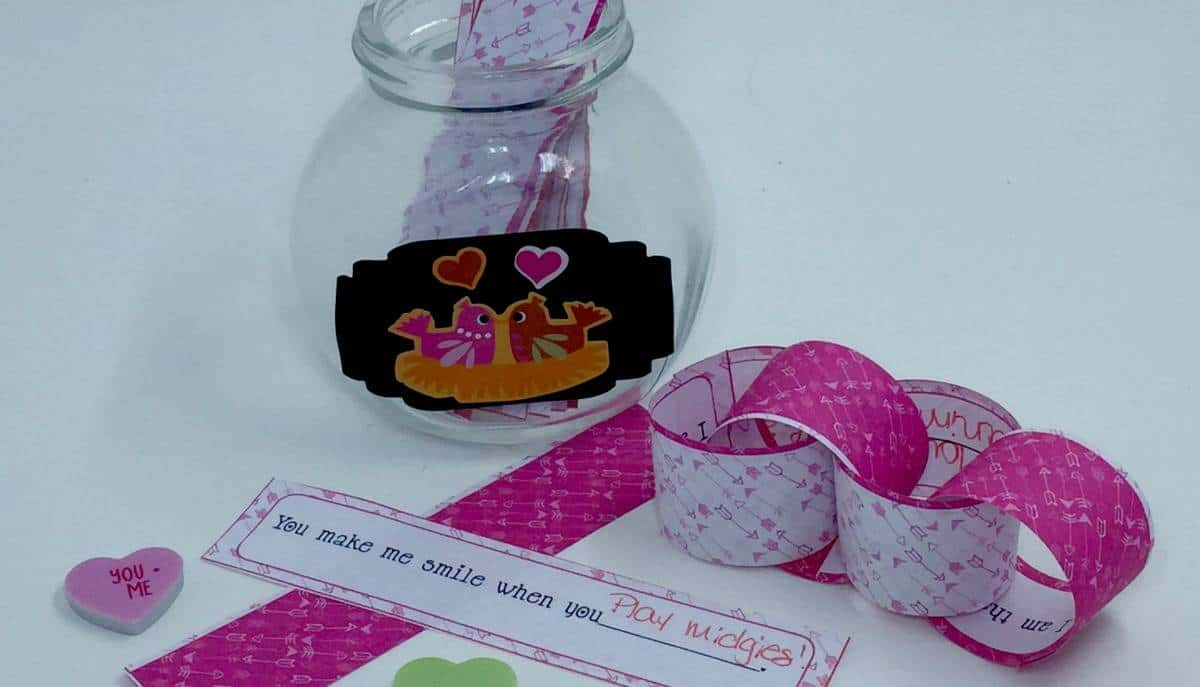 Valentine Countdown Chain for Kids
